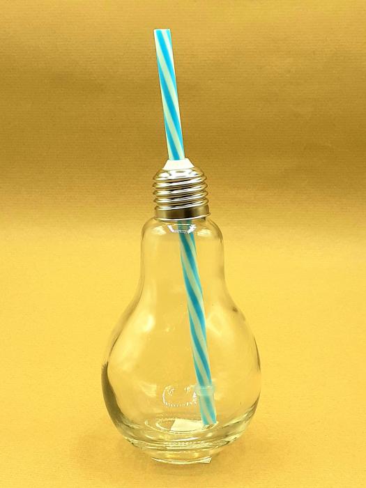 Borcan de limonadă cu capac și pai( borcan cu capac si pai gastro bec) 0