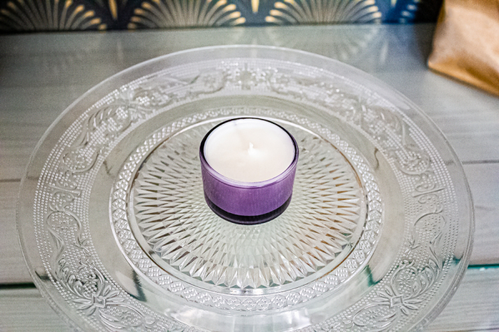 Lumânare Violete, Crini & Trandafiri 0