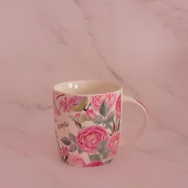 Cană chic cu trandafiri(cana cu toarta gastro trandafiri) 1