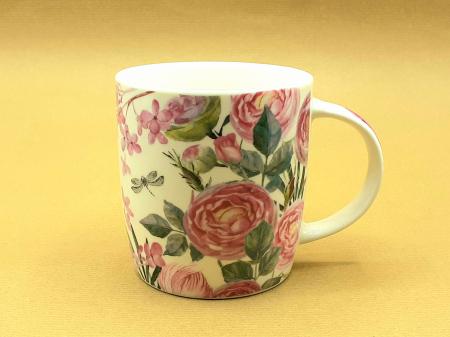 Cană chic cu trandafiri(cana cu toarta gastro trandafiri)0