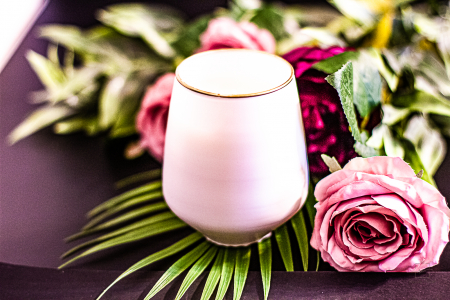 Lumânare Violete, Crini & Trandafiri0