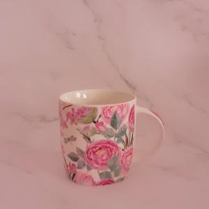 Cană chic cu trandafiri(cana cu toarta gastro trandafiri)1