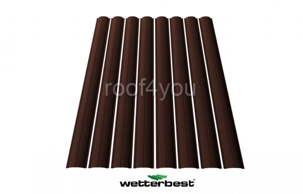 Şipcă de gard metalică, WETTERBEST, Lucios grosime 0.4 mm, RAL 8017 0
