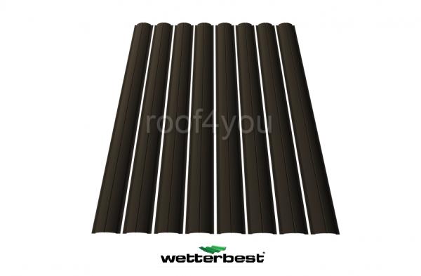 Şipcă de gard metalică, WETTERBEST, Mat grosime 0.5 mm, RAL 8019 0