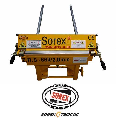 Abkant manual latime lucru 660 mm / 2.0 mm ZRS 660 Sorex 1