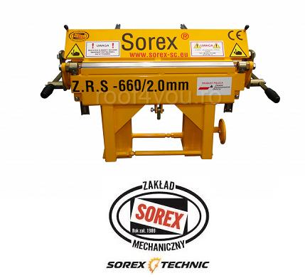 Abkant manual latime lucru 660 mm / 2.0 mm ZRS 660 Sorex 0
