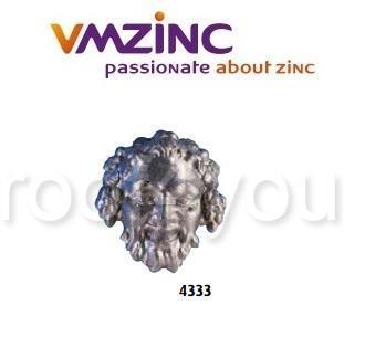 Accesorii stantate: capete, VMZINC, inaltime 160 mm, Model 4333 0
