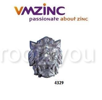 Accesorii stantate: capete, VMZINC, inaltime 750 mm, Zinc: 220022014, Model 4329 0
