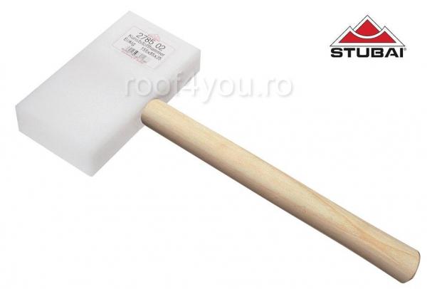 Ciocan cu cap din plastic, rectangular, alb, 145x75x35 0