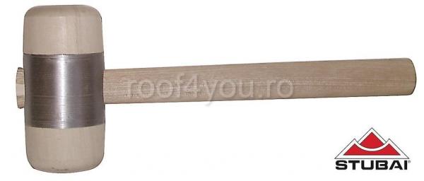 Ciocan din lemn cu inel metalic Ø60 mm 0