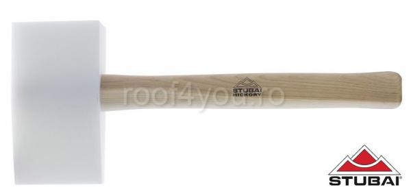 Ciocan din plastic, mâner Hickory, forma de pană,155x85x35 0