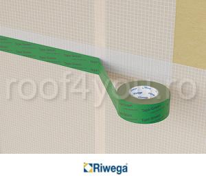 Banda adeziva profesionala de etansare verde 50mm Riwega 1