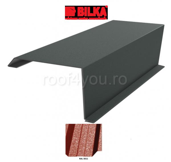 Bordura fronton industriala BILKA Grande Mat 0,5 mm / 250 mm / RAL 3011 0