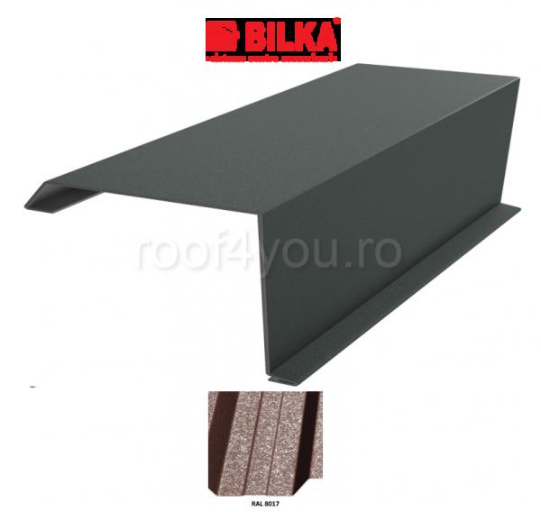Bordura fronton industriala BILKA Grande Mat 0,5 mm / 250 mm / RAL 8017 0
