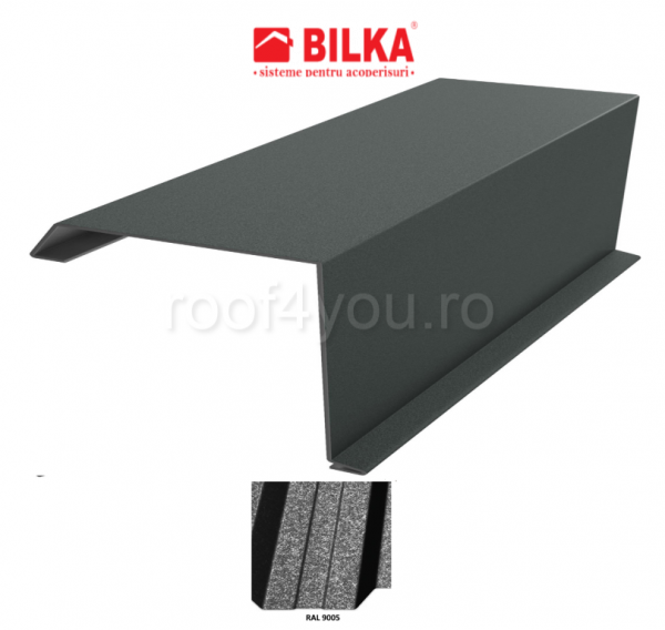 Bordura fronton industriala BILKA Grande Mat 0,5 mm / 250 mm / RAL 9005 0