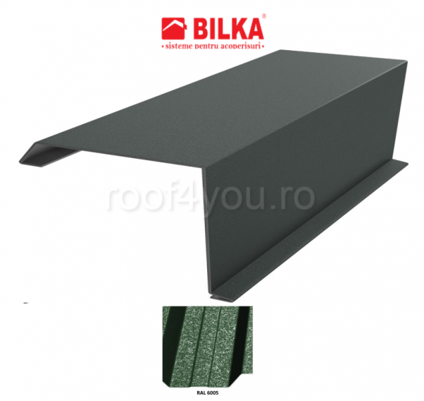 Bordura fronton industriala BILKA Grande Mat 0,5 mm / 312 mm / RAL 6005 0
