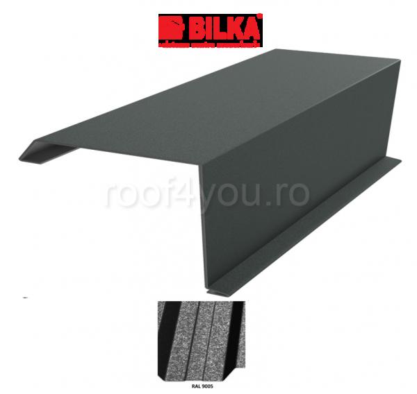 Bordura fronton industriala BILKA Grande Mat 0,5 mm / 312 mm / RAL 9005 0