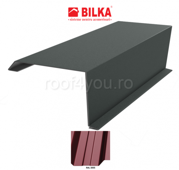 Bordura fronton industriala BILKA Lucios 0,5 mm / 312 mm / RAL 3005 0