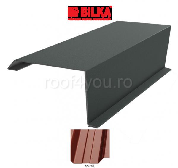 Bordura fronton industriala BILKA Lucios 0,5 mm / 312 mm / RAL 3009 0