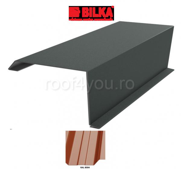 Bordura fronton industriala BILKA Lucios 0,5 mm / 312 mm / RAL 8004 0