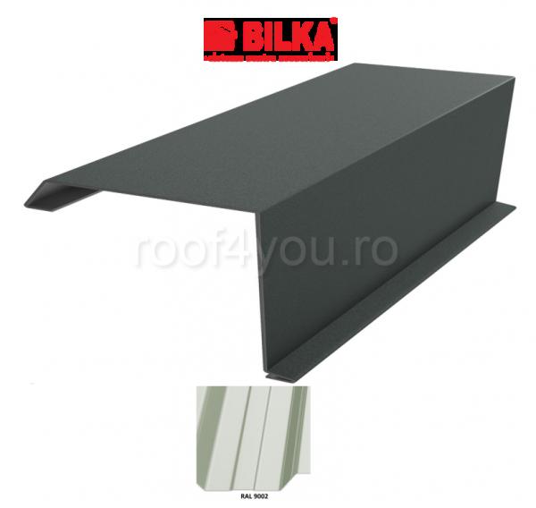 Bordura fronton industriala BILKA Lucios 0,5 mm / 312 mm / RAL 9002 0