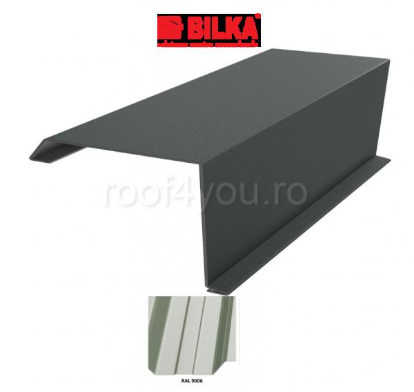 Bordura fronton industriala BILKA Lucios 0,7 mm / 250 mm / RAL 9006 0