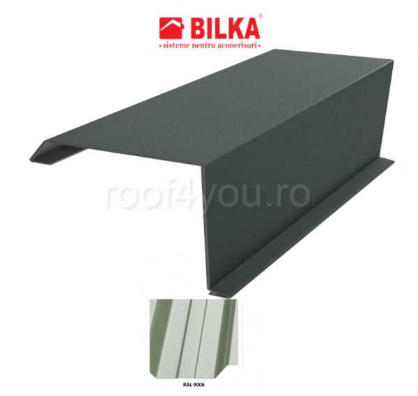 Bordura fronton industriala BILKA Lucios 0,7 mm / 360 mm / RAL 9006 0