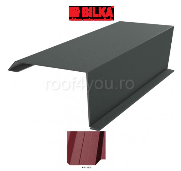 Bordura fronton industriala BILKA Mat 0,6 mm / 360 mm / RAL 3005 0