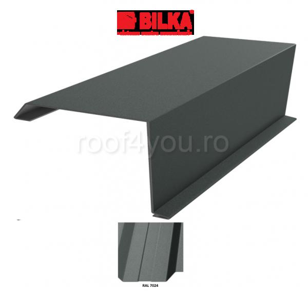 Bordura fronton industriala BILKA Mat 0,5 mm / 250 mm / RAL 7024 0