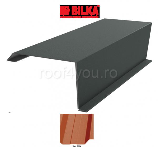 Bordura fronton industriala BILKA Mat 0,5 mm / 312 mm / RAL 8004 0