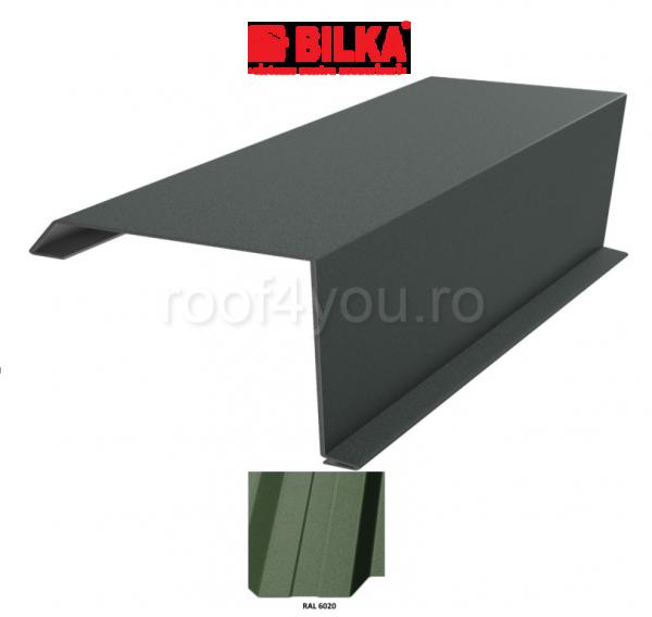 Bordura fronton industriala BILKA Mat 0,5 mm / 360 mm / RAL 6020 0