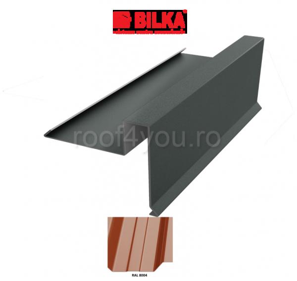 Bordura fronton sub tigla industriala BILKA Lucios 0,5 mm / 312 mm / RAL 8004 0