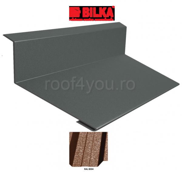 Bordura la perete industriala BILKA Grande Mat 0,5 mm / 178 mm / RAL 8004 0