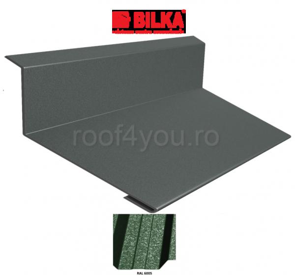 Bordura la perete industriala BILKA Grande Mat 0,5 mm / 208 mm / RAL 6005 0