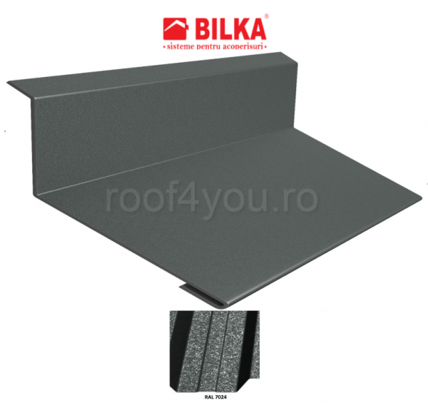 Bordura la perete industriala BILKA Grande Mat 0,5 mm / 208 mm / RAL 7024 0