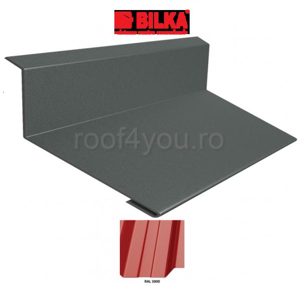 Bordura la perete industriala BILKA Lucios 0,5 mm / 178 mm / RAL 3000 0