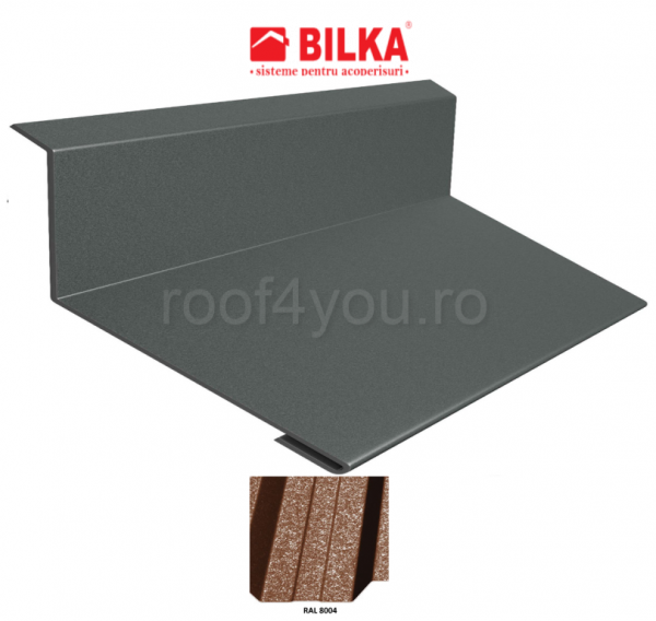 Bordura la perete industriala BILKA Grande Mat 0,5 mm / 250 mm / RAL 8004 0