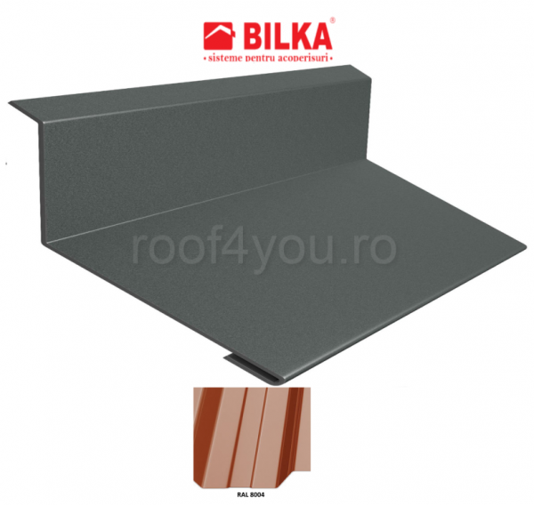 Bordura la perete industriala BILKA Lucios 0,5 mm / 178 mm / RAL 8004 0