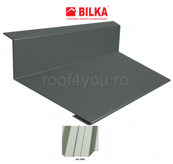 Bordura la perete industriala BILKA Lucios 0,5 mm / 178 mm / RAL 9006 0