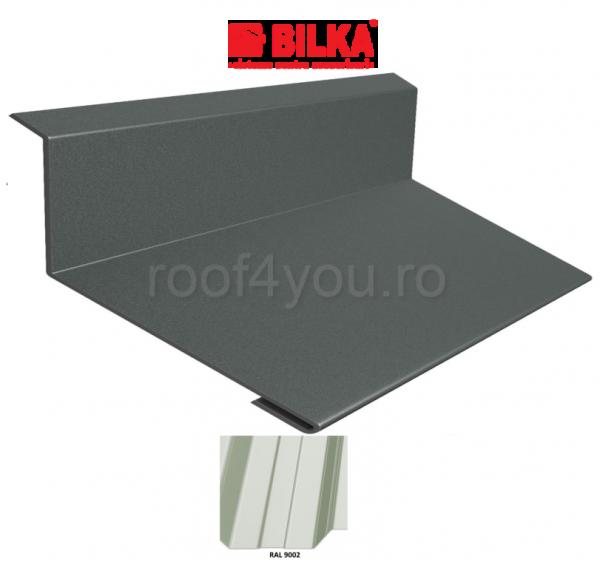 Bordura la perete industriala BILKA Lucios 0,7 mm / 178 mm / RAL 9002 0