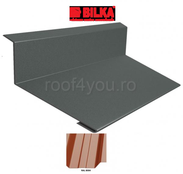 Bordura la perete industriala BILKA Lucios 0,5 mm / 250 mm / RAL 8004 0