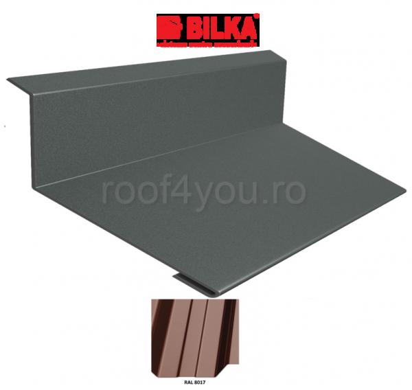Bordura la perete industriala BILKA Lucios 0,5 mm / 250 mm / RAL 8017 0