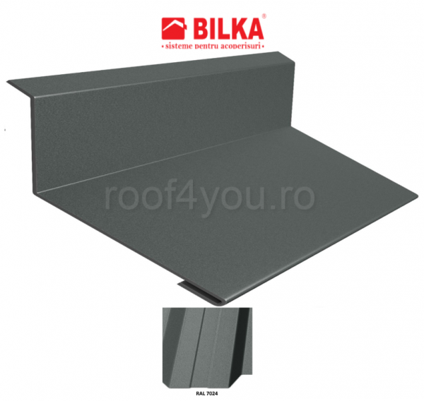 Bordura la perete industriala BILKA Mat 0,5 mm / 178 mm / RAL 7024 0
