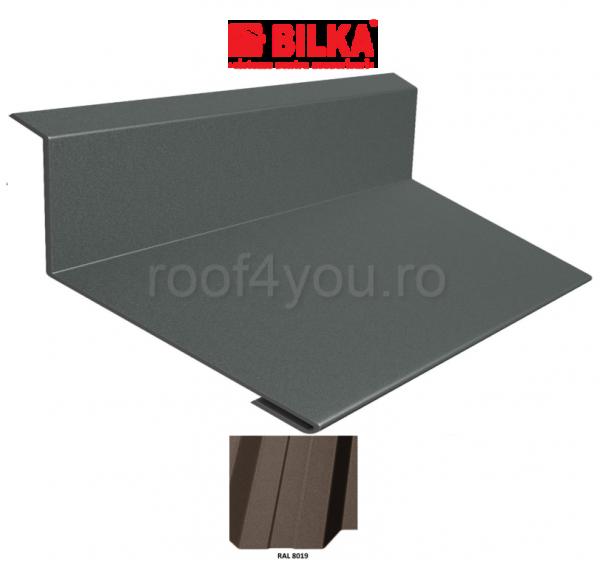 Bordura la perete industriala BILKA Mat 0,6 mm / 208 mm / RAL 8019 0