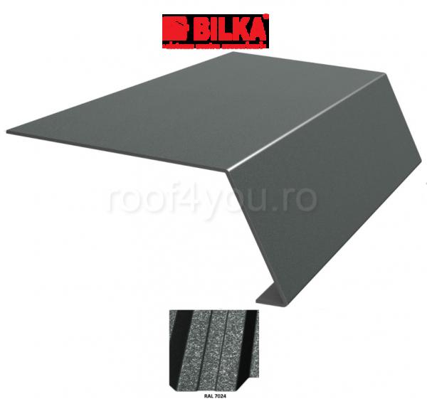 Bordura streasina industriala BILKA Grande Mat 0,5 mm / 156 mm / RAL 7024 0