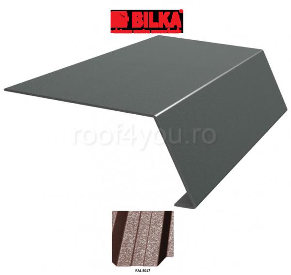 Bordura streasina industriala BILKA Grande Mat 0,5 mm / 156 mm / RAL 8017 0