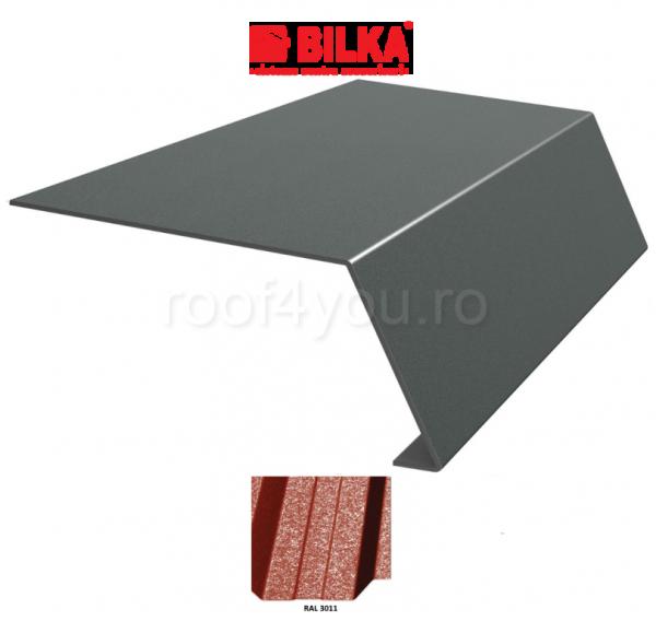 Bordura streasina industriala BILKA Grande Mat 0,5 mm / 178 mm / RAL 3011 0
