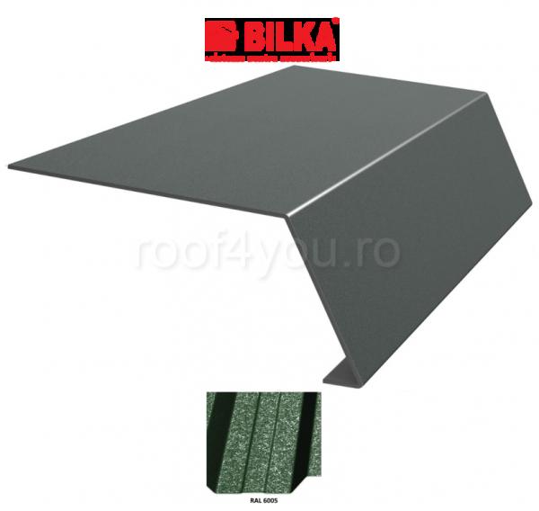 Bordura streasina industriala BILKA Grande Mat 0,5 mm / 178 mm / RAL 6005 0