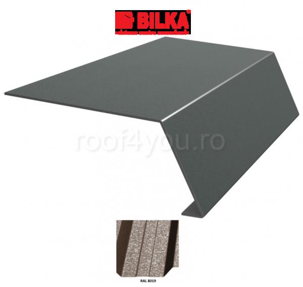 Bordura streasina industriala BILKA Grande Mat 0,5 mm / 178 mm / RAL 8019 0
