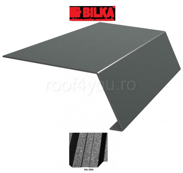 Bordura streasina industriala BILKA Grande Mat 0,5 mm / 178 mm / RAL 9005 0